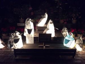 ライトアップ ペンギン 全体